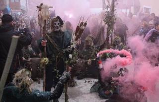 Makedonya'nın en eski karnavalı olan 'Vevçani Karnavalı'