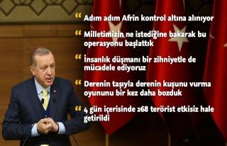 Erdoğan, harekata neden 'Zeytin Dalı' adı verildiğini...