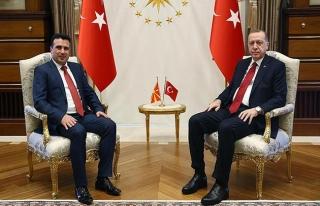 Erdoğan, Makedonya Başbakanı Zaev'i Beştepe'de...