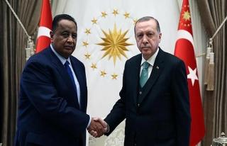 Erdoğan, Sudan Dışişleri Bakanı Gandur'u Beştepe'de...