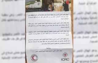 Afrin'deki PYD/PKK sığınaklarından Kızılhaç...