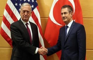 Milli Savunma Bakanı Canikli ile ABD'li Bakan Mattis...