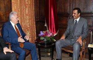 Başbakan Yıldırım, Münih'te Katar Emiri Al Sani...