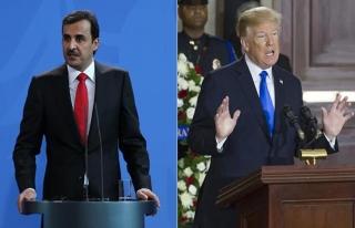 Trump'tan Katar Emiri Al Sani'ye teşekkür!