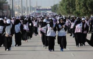 Suudi Arabistan'da kadınlar ilk defa maratona katıldı