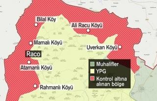 Afrin'de kritik öneme sahip Racu belde merkezi ele...