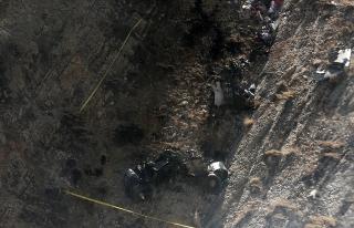 İran'da düşen özel Türk uçağından ilk görüntüler