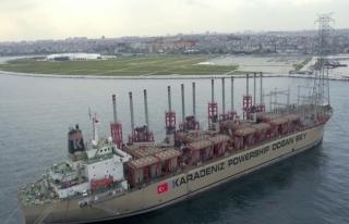 Türk gemisi Afrika'da elektrik üretecek