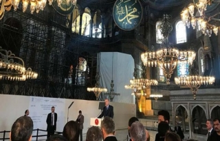 Erdoğan Yeditepe Bienali'nde Ayasofya'dan seslendi