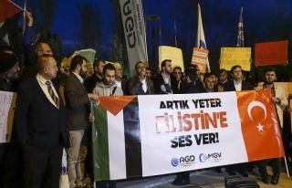 Başkentte Filistin protestosu