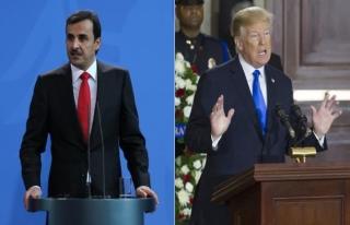 Trump, Katar Emiri Şeyh Temim ile görüştü
