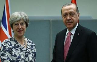 Cumhurbaşkanı Erdoğan, May ile Suriye için görüştü