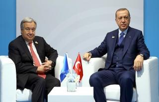 Cumhurbaşkanı Erdoğan, Guterres ile 'Suriye'yi...