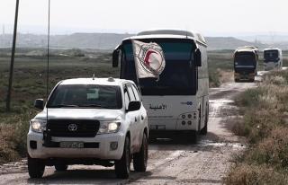 Yermük'te ilk konvoy yola çıktı