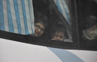 Yermük'ten tahliye edilenlerin sayısı 8 bini aştı