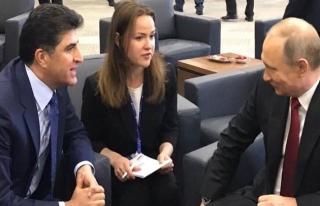 Putin ve Barzani Moskova'da görüştü