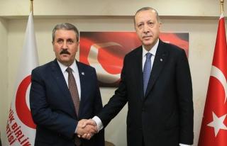 Erdoğan'dan BBP'ye ziyaretinde 'ortak miting' mesajı