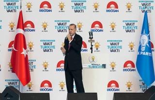 Erdoğan, AK Parti seçim beyannamesini açıkladı