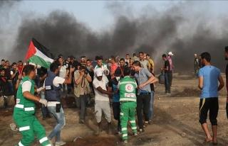 Gazze'deki 'Büyük Dönüş Yürüyüşü'nde acı...