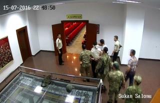 15 Temmuz'da Tuğgeneralin alıkonulma görüntüleri...