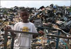 E-çöp dağları Afrika'da yükseliyor