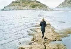 Sular çekildi tarihi yol ortaya çıktı