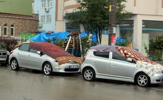 Sağanak yağış Edirne'den giriş yaptı