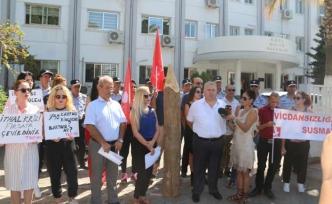 KKTC'de zamlar protesto edildi