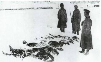 Rusların çektiği Sarıkamış görüntüleri