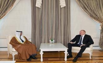 Aliyev, Birleşik Arap Emirlikleri Enerji ve Sanayi Bakanı'nı kabul etti