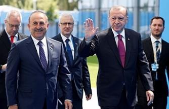 Erdoğan ilk kez 'Başkan' olarak NATO Zirvesi'nde