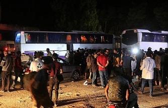 Dera'dan çıkan ilk tahliye konvoyu Hama'ya vardı