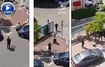 İsrailliler Filistinli kadını önce ezmeye çalıştılar sonra da saldırdılar | VİDEO