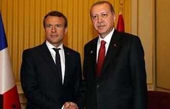 Başkan Erdoğan, Macron'la görüştü