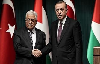 Erdoğan, Abbas ile görüştü: Filistin Türkiye'nin yanında