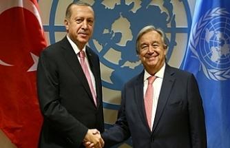 Erdoğan, BM Genel Sekreteri ile Suriye'yi görüştü