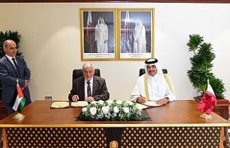 Katar'dan Filistin'e destek