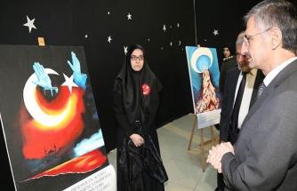 İstiklal Marşı'nın tamamını resme yansıttılar