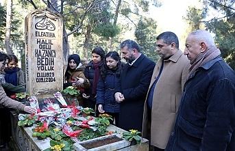 Kazancı Bedih'i n mezarına sevenlerinden ziyaret