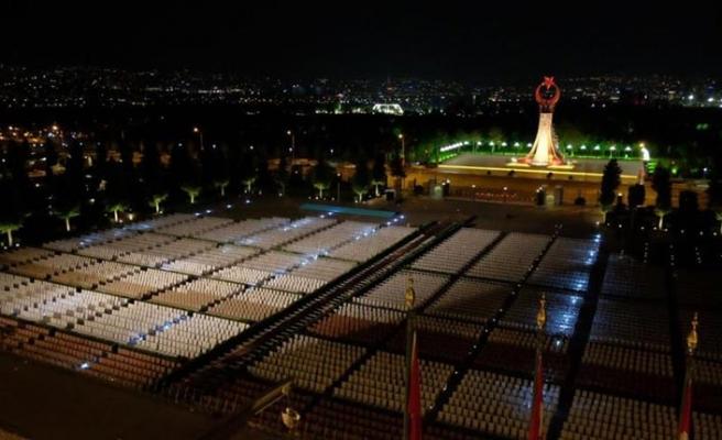 Beştepe'deki Cumhurbaşkanlığı Külliyesi'nde görkemli tören