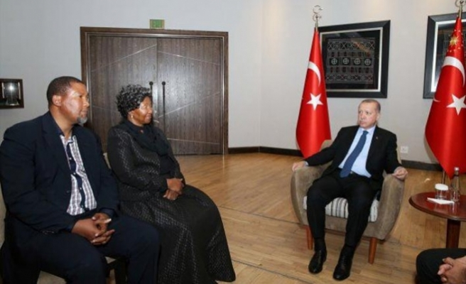Erdoğan Mandela'nın ailesini kabul etti
