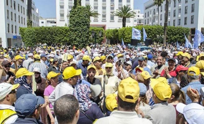 Fas'ın madenci kentinde çok sayıda esnaf greve gitti
