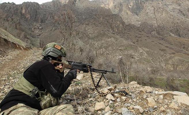 Hakkari'deki operasyonda 9 PKK'lı etkisiz hale getirildi