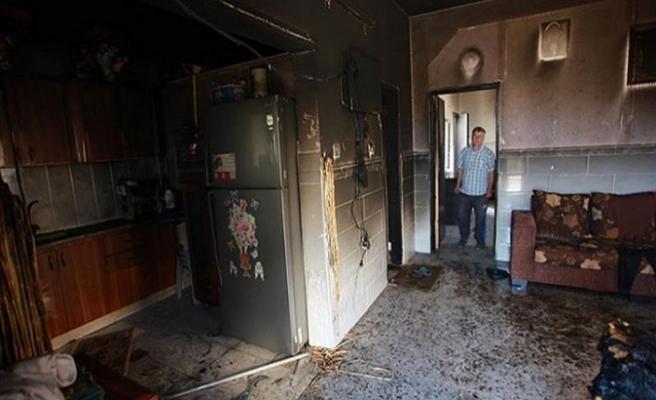 Yahudi işgalciler Filistinliler'in evini yaktı