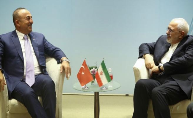 Bakan Çavuşoğlu, İran Dışişleri Bakanı Zarif'le görüştü