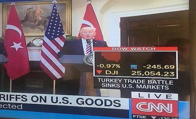 CNN: Türkiye ile ticaret savaşı ABD borsasını batırdı