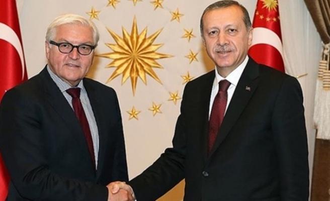 Erdoğan, Alman mevkidaşı Steinmeier ile görüştü