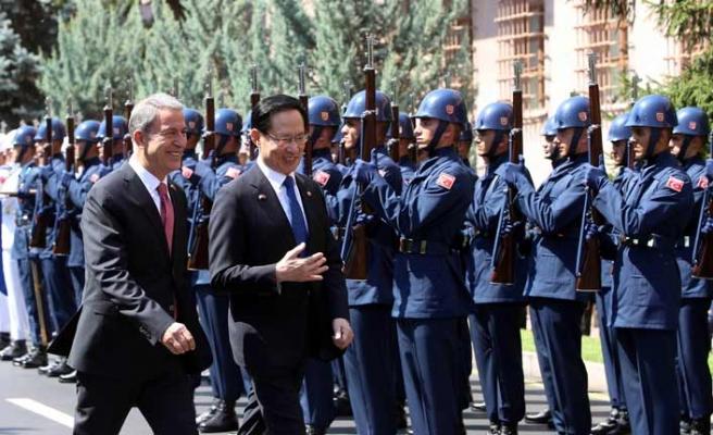 G.Kore Savunma Bakanı Hulusi Akar'ın misafiri