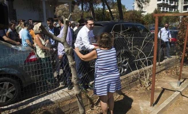 Çipras 42 gün sonra yangın felaketi bölgesini ziyaret etti