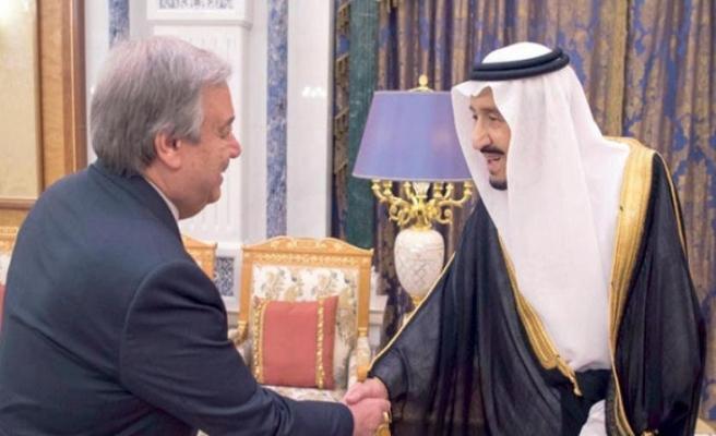 Kral Selman Guterres'i kabul etti